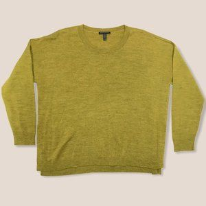 Eileen Fisher Pullover Sweater Olive Knit PL